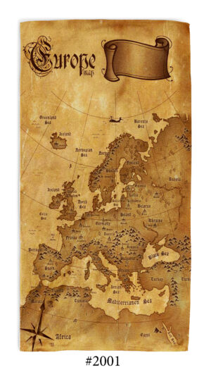 ХАвлиена кърпа Europe Map
