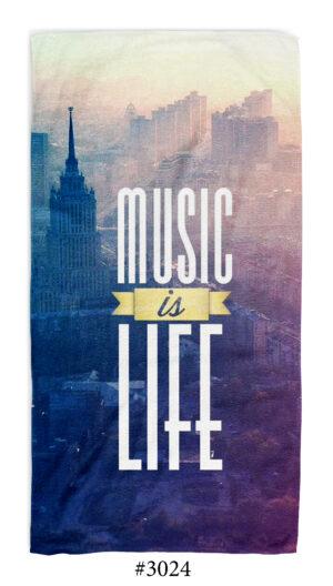 """Хавлиена Кърпа """"Music Is Life"""" Музика"""