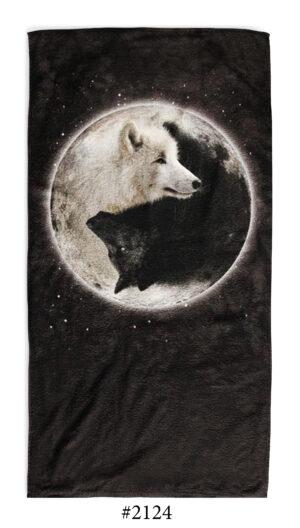 """Хавлиена Кърпа """" Yin and yang Wolfs"""""""