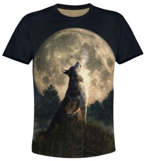 t-shirt new moon wolf