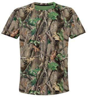 тениска с камуфлаж